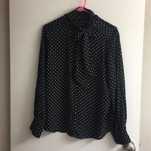 "Polka dot long sleeve blouse ""who what wear"""